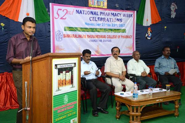 National Pharmacy Week Celebrations, on 21 - 23 Nov 2013